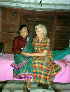 Charity founder Joy Leighton on an early visit to Gorkha in late 1980s